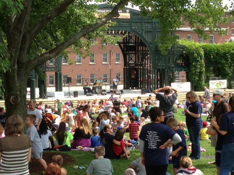 3 Ben Rudnick Band on Lowell stage